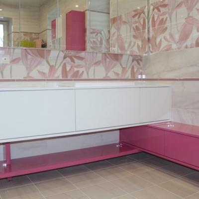 Комплект мебели для ванной угловой
