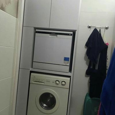 Ниша для ванной с отделением под стиральную машину